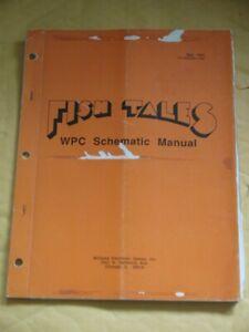 Original Fish Tales Pinball service Manual SCHEMATICS Williams Flipper machine