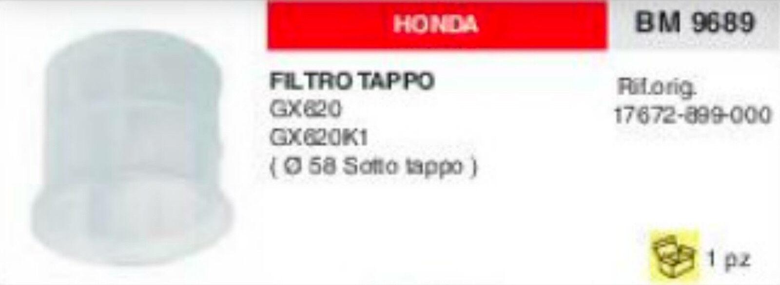 17672899000 Filtre Réservoir Essence Bouchon au-dessous Honda GX 620 K1 Ø 58