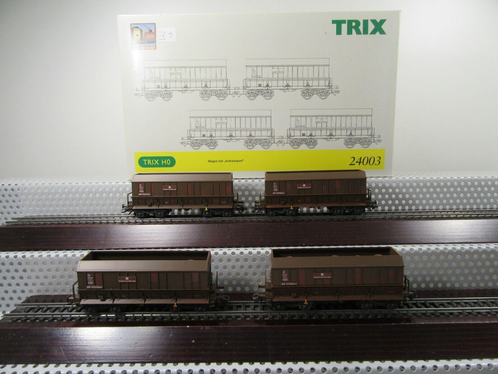 Trix h0 24003 coches-set  erztransport  E y H GmbH época V 4 piezas en OVP