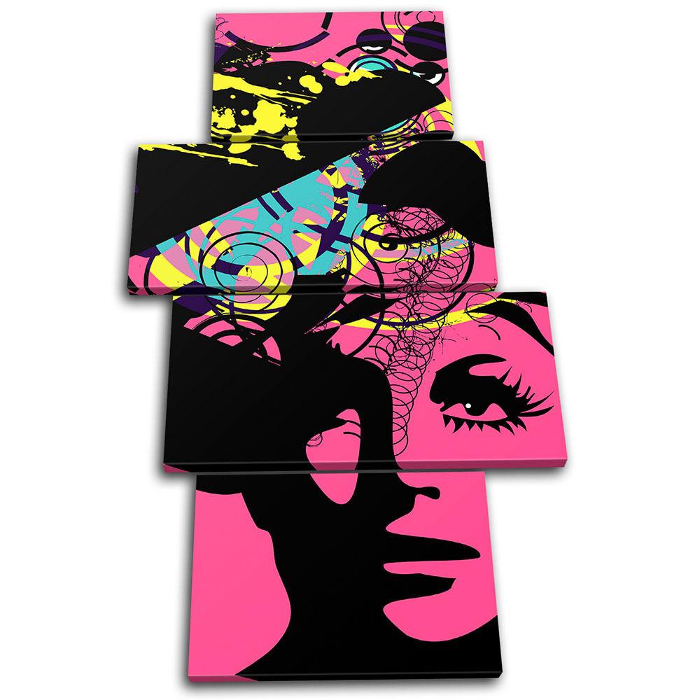 Illustraion Abstract Woman Pop Fashion Retro Canvas Art Picture Print Print Print Photo d953b8