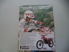 advertising Pubblicità 1984 MOTO FANTIC TRIAL 300 PROFESSIONAL
