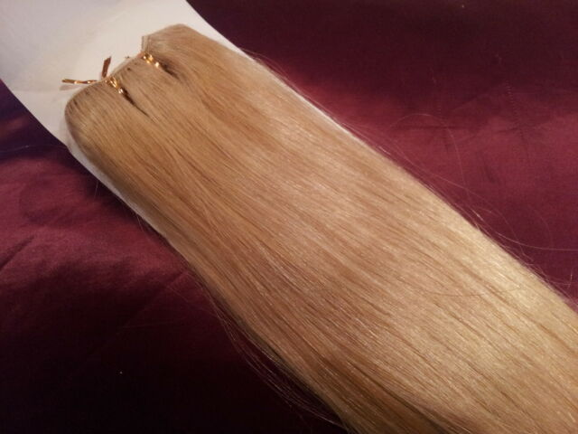 """18""""HUMAN WEAVE 100G 5A grade #22 BEAUTIFUL INDIAN REMY WEFT STRAIGHT HAIR 1g 1 g"""
