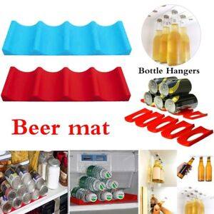 Silicon-Fridge-Can-Beer-Wine-Bottle-Rack-Organizer-Holder-Mat-Stacking-Tidy-Tool
