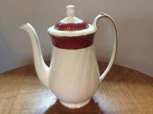 Wedgwood-Crown-Ruby-bone-china-coffee-pot-ca-1991