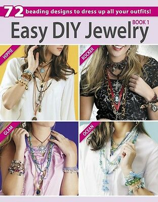 EASY DIY JEWELRY BOOK 1-Glass Beads/Beaded/Beading-Wire-Chain-Cords-Craft Ideas