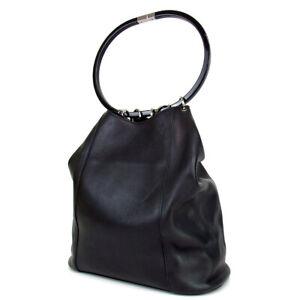 Authentic-GUCCI-001-3738-Drawstring-type-Handbag-leather-Used