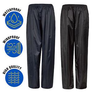 Mens-Waterproof-Water-Rain-Resitant-Pants-Bottoms-Overtrousers-Motorbike-S-XXL