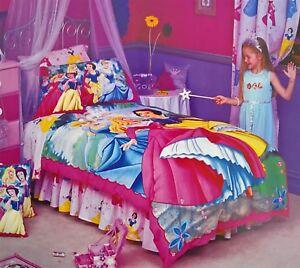 Disney-Princess-GARDEN-CASTLE-DOONA-QUILT-DUVET-COVER-SET-Twin