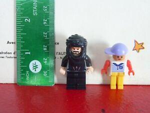 Special-Lot-of-2-PVC-Toys-Lego-Figurines-Black-Beard-Ninja-Prince-of-Persia