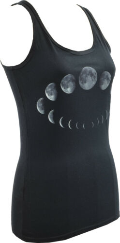 WOMENS TANK TOP MOON PHASES CYCLE WICCA WICCAN WITCH PAGAN GOTH ASTROLOGY S-2XL