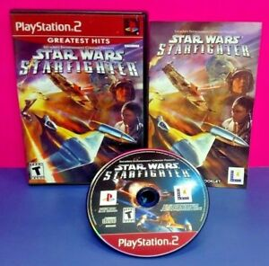 Star Wars Starfighter  - PS2 Playstation 2 COMPLETE Game 1 Owner Near Mint Disc