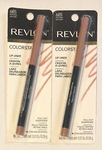 (2) Revlon Colorstay Lip Liner, 685 Natural