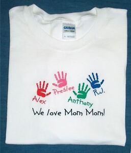 470cd0687 Image is loading Personalized-MOTHER-MOMMY-MOM-GRANDMA-NANA-GRAMMY-Kids-