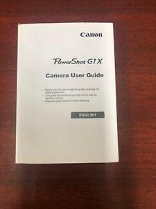 Canon powershot g1x camera user guide english | ebay.
