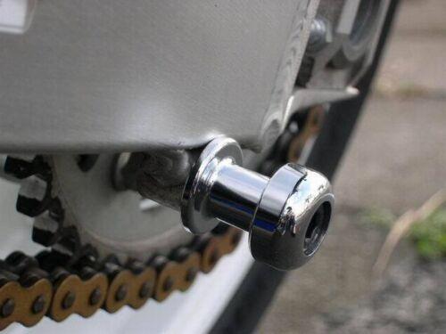 8mm Chrome Swingarm Spools GSXR TL1000 SV1000 SV650 Hayabusa CBR 600RR 954 RC51
