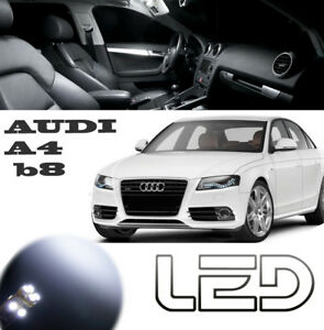 AUDI-A4-B8-Pack-10-Ampoules-LED-Blanc-eclairage-Sol-tapis-plafonnier-miroirs