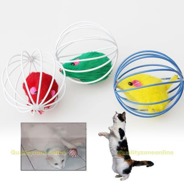 #QZO Pet Cat Lovely Kitten Gift Funny Play Toys Mouse Ball Brand New