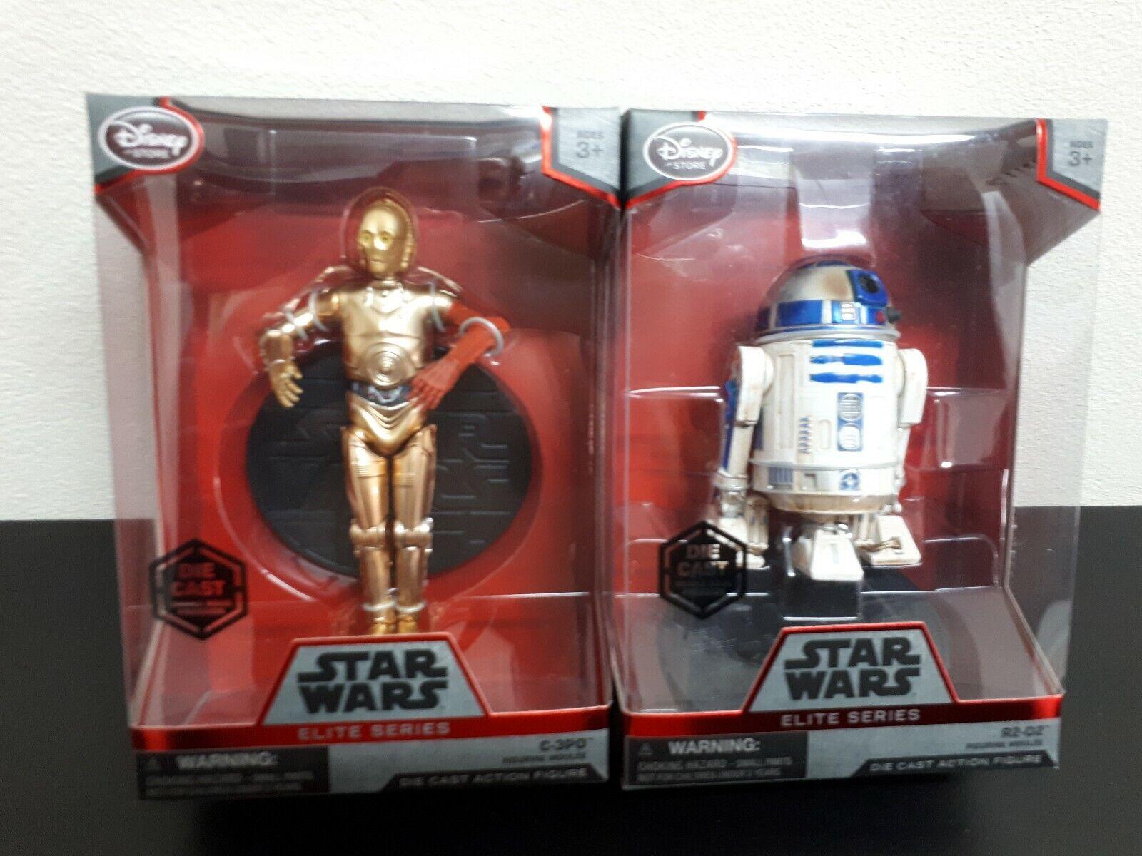 Star Wars elite series 2 figuras C3po y R2-D2 metalicas y articulables. Nuevas