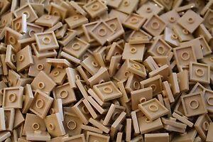 100 x LEGO® Tile Jumper / Fliesen 2x2 Knopf ( 87580 ) in Beige / Sand / Tan NEU