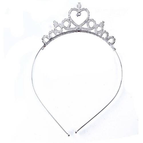 Children Girls Crown Tiara Princess Headband Wedding Prom Hair Clasp T