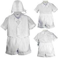 Baby Infant Boy Toddler Christening Baptism Formal Short Set Suit (new Born- 4t)