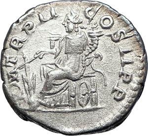 ELAGABALUS-219AD-Rome-Silver-Authentic-Ancient-Roman-Coin-Fortuna-73550