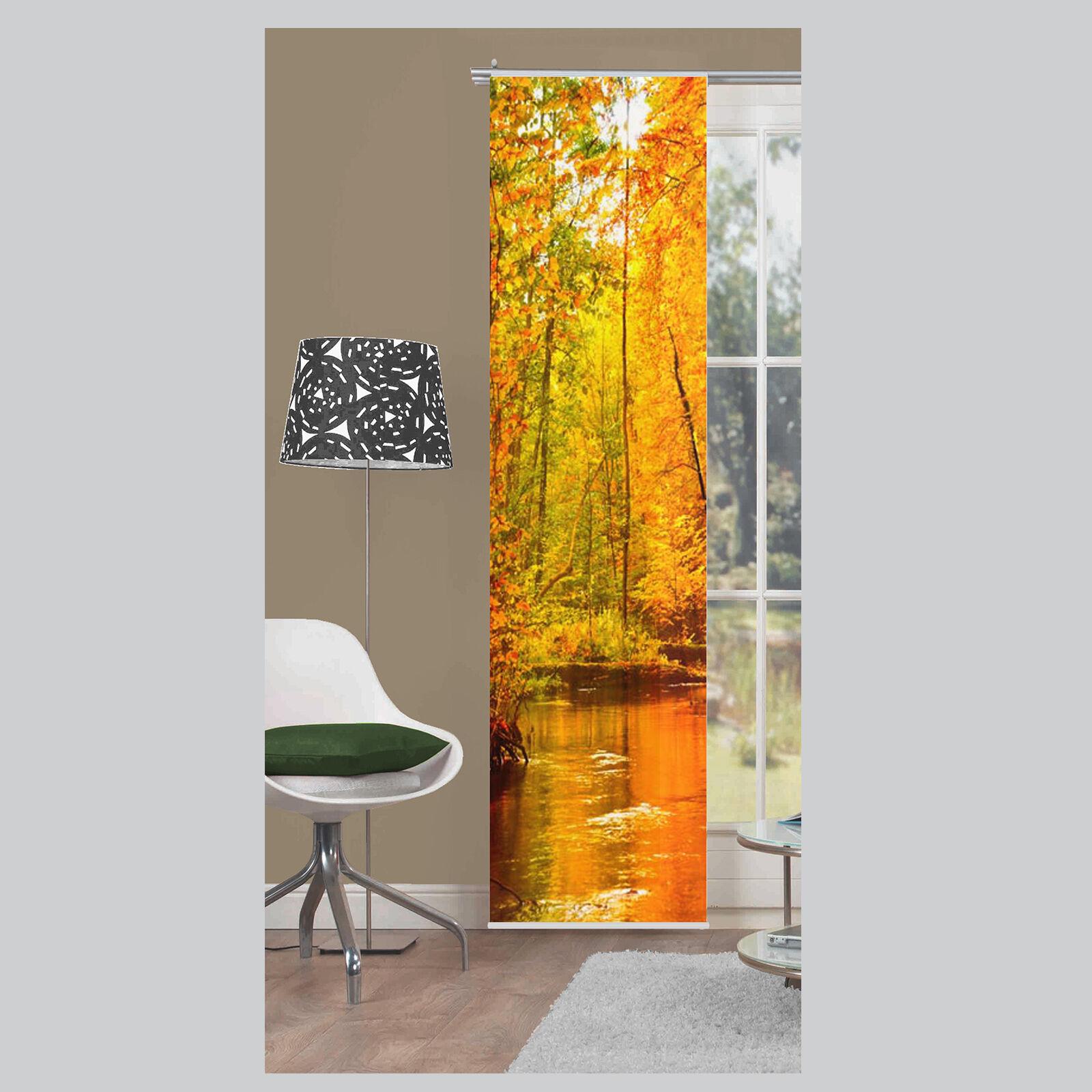 floresta b ume wald schiebevorhang schiebegardine raumteiler home wohnideen s ebay. Black Bedroom Furniture Sets. Home Design Ideas