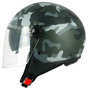 Casque-Moto-Scooter-Demi-Jet-S-line-S706-R-FULLY-Ice-Camo-Double-Visiere
