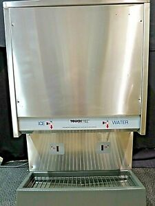 Scotsman-Touch-Free-Air-Cooled-Nugget-Ice-Maker-amp-Dispenser-TDE550AS-1A