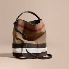 Burberry Purse The Medium Ashby in Canvas Check and Leather Retails $795
