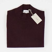 Brioni Burgundy Cashmere Blend Turtleneck Knitted Sweater Size 50/40/m $1550 on Sale