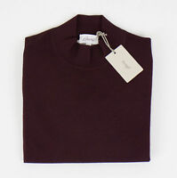 Brioni Burgundy Cashmere Blend Turtleneck Knitted Sweater Size 50/40/m $1550 on Sale