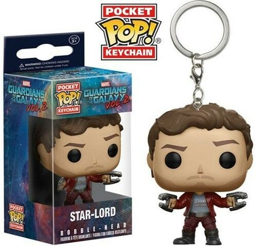 Pocket keychain porte clés SPA of the Galaxy 2 Star-Lord Funko POP