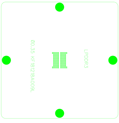 8*8 GM1501-BD GM1501H-LF-BD GM1501-LF-BD GM1501H-BD Stencil Template