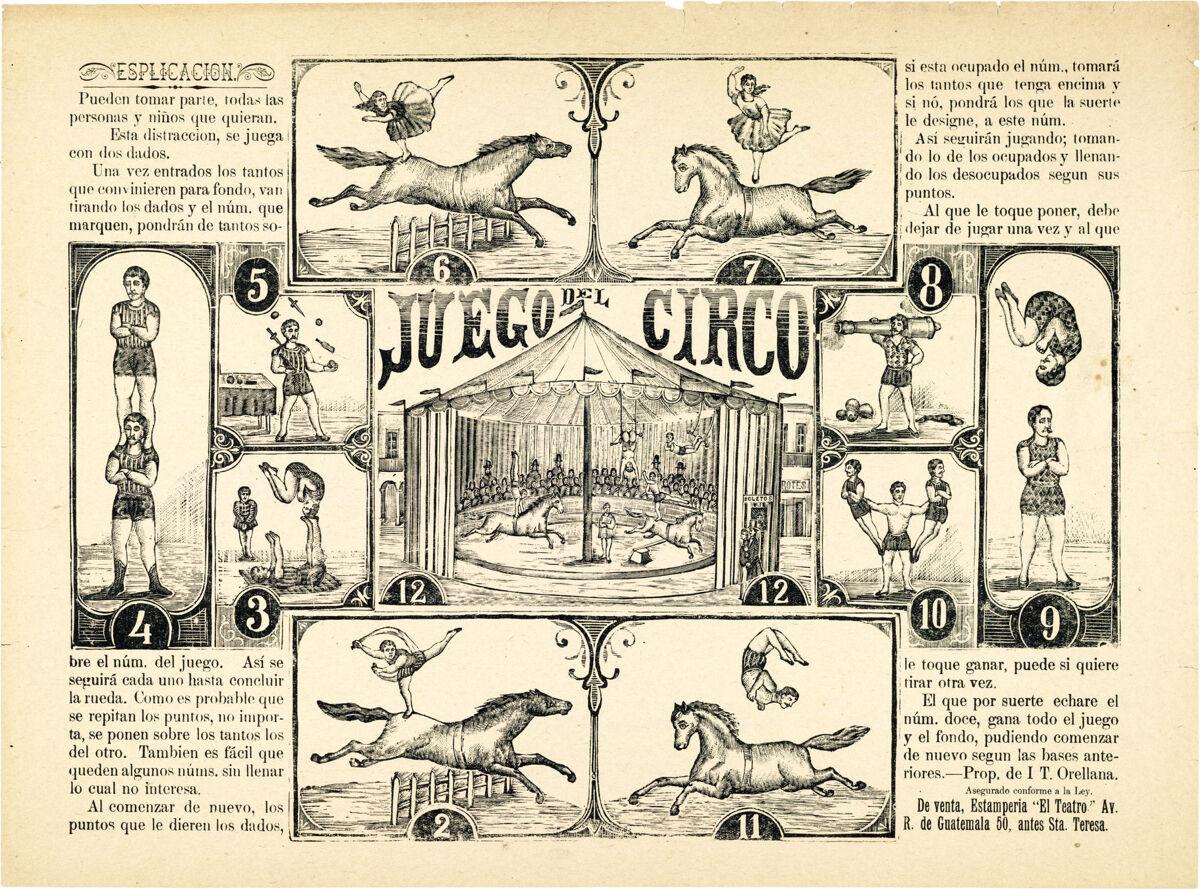 16x20  CANVAS Decor.Room design art print..Juego de circo.Spanish game.6126