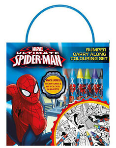 Ultimate-Spiderman-Bumper-Carry-Along-Colouring-Set-Travel-Activity-Kids