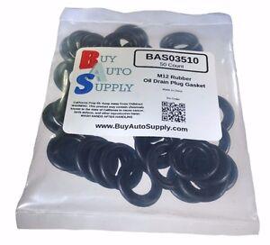 50x-M12-Rubber-Oil-Drain-Plug-Gasket-Washer-Fits-GM-12616850-Dorman-097-119
