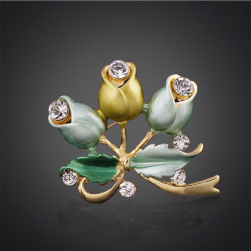 1 Piece Garment Decoration Women Jewelry Rose Flower Brooch Wedding Bridal Pin