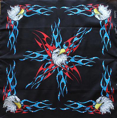 Zandana Biker American Pride Eagles Bandana Durag Motorcycle 22x22 Dorag
