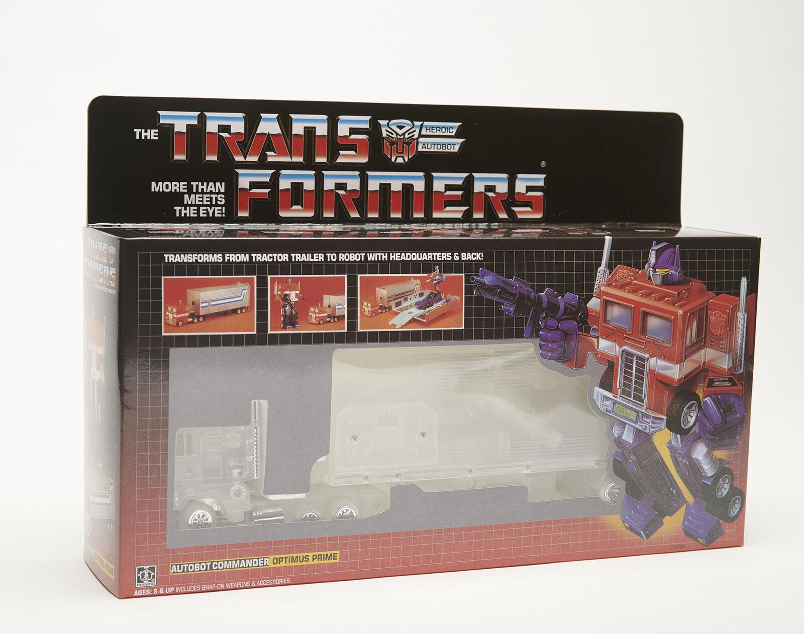 Transformers Optimes Prime G1 transformers Reissue Transparent Version Version Version Toys Hot 3c8c8a