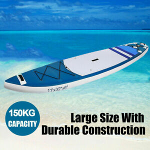 Details about ANCHEER 11'6' Inflatable Stand Up Paddle Board SUP w/  Adjustable Paddle Backpack