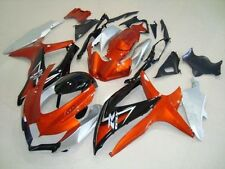 Orange Silver Black Injection Fairing Complete for 2008-2010 Suzuki GSXR 600 750