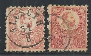 Hungary stamps 1871 MI 3a+3b CANC VF Cat.Value $200