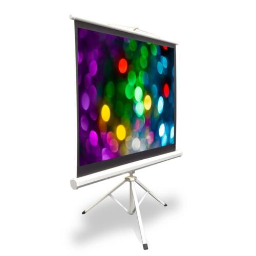 New Pyle PRJTP52 50-inch Video Projector Screen Easy Fold-Out /& Roll-Up Project