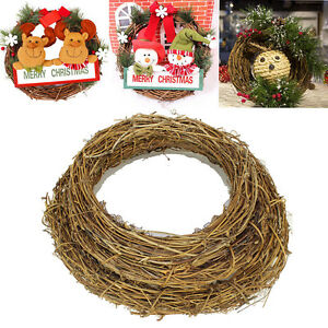1x Garland Christmas Natural Dried Rattan Wreath Xmas  Door Wall Decor DIY UK Home, Furniture & DIY