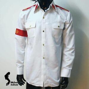 371816630869ae MJ Michael Jackson Classic White Shirt CTE Man in Mirror Badge Anti ...