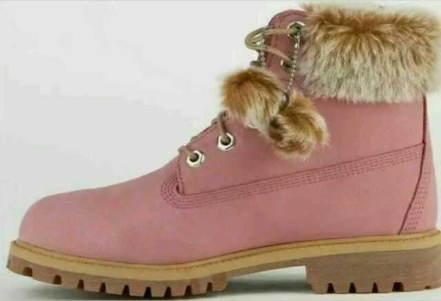 Río arriba Entrada abrazo  Timberland Pink 6 Inch Premium Waterproof BOOTS With Fur Trim Womens 7 for  sale online | eBay