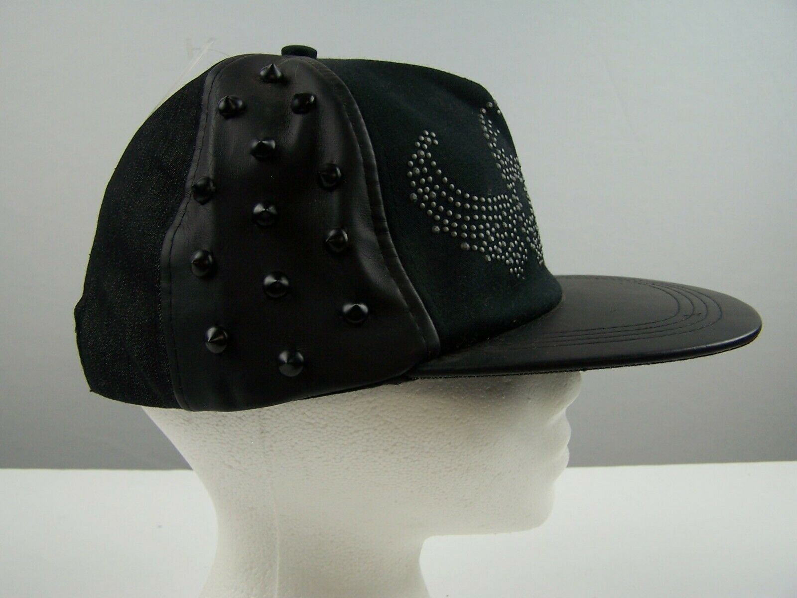 Black Stud Skull with Wings Baseball Cap Hat Claire's N