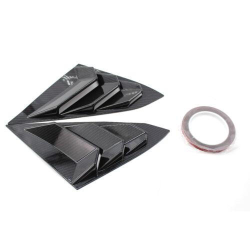 For 2016-18 Honda Civic Carbon Fiber Vent Quarter Side Window Louver Cover Tape