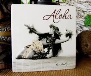 Hawaiian Island Hula Dancer Ceramic Tile. Free Ship. tropical island dancer girl